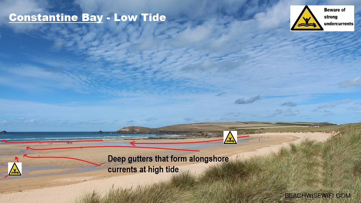 Constantine-Bay-Low-tide-gutters-cause-alongshore-rip-tides-at-high-tide