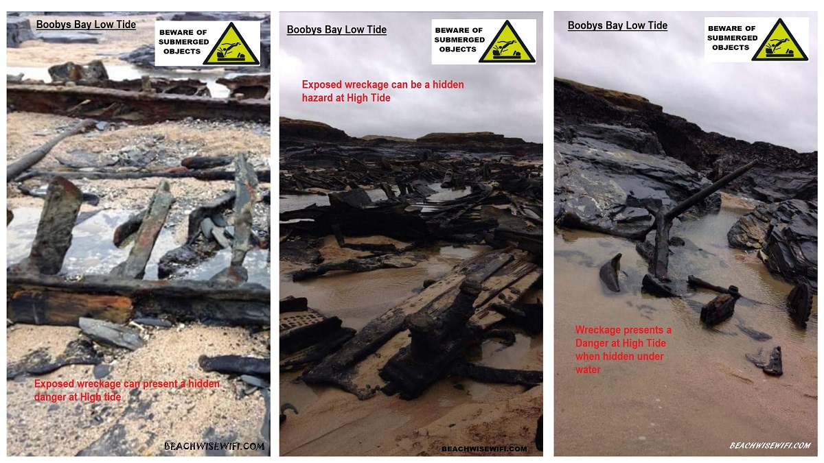 Boobys-Bay-ship-wreck-exposed-at-low-tide